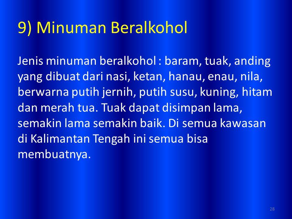 9) Minuman Beralkohol