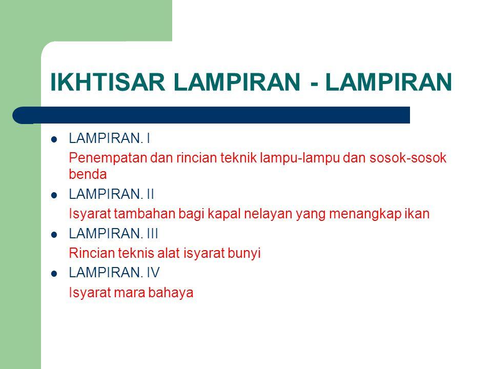 IKHTISAR LAMPIRAN - LAMPIRAN