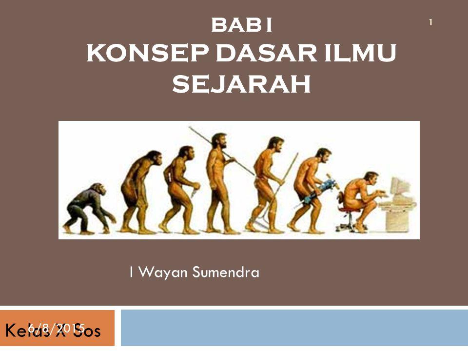 BAB I KONSEP DASAR ILMU SEJARAH