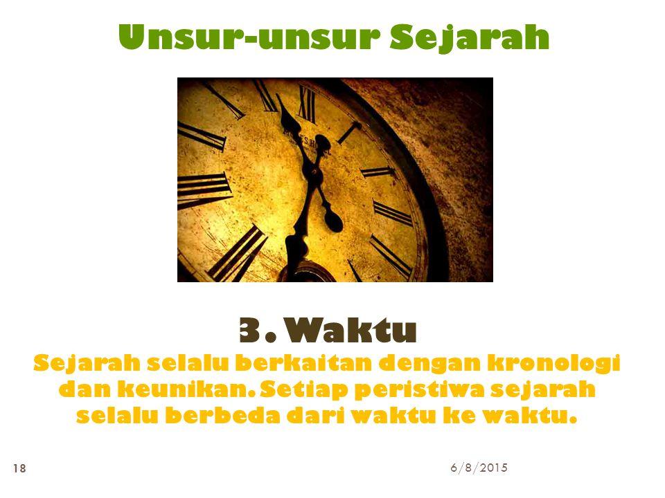 Unsur-unsur Sejarah 3. Waktu