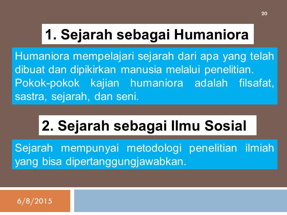 1. Sejarah sebagai Humaniora
