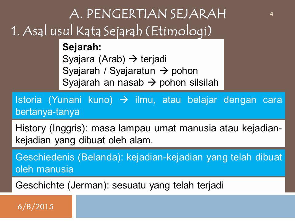 1. Asal usul Kata Sejarah (Etimologi)