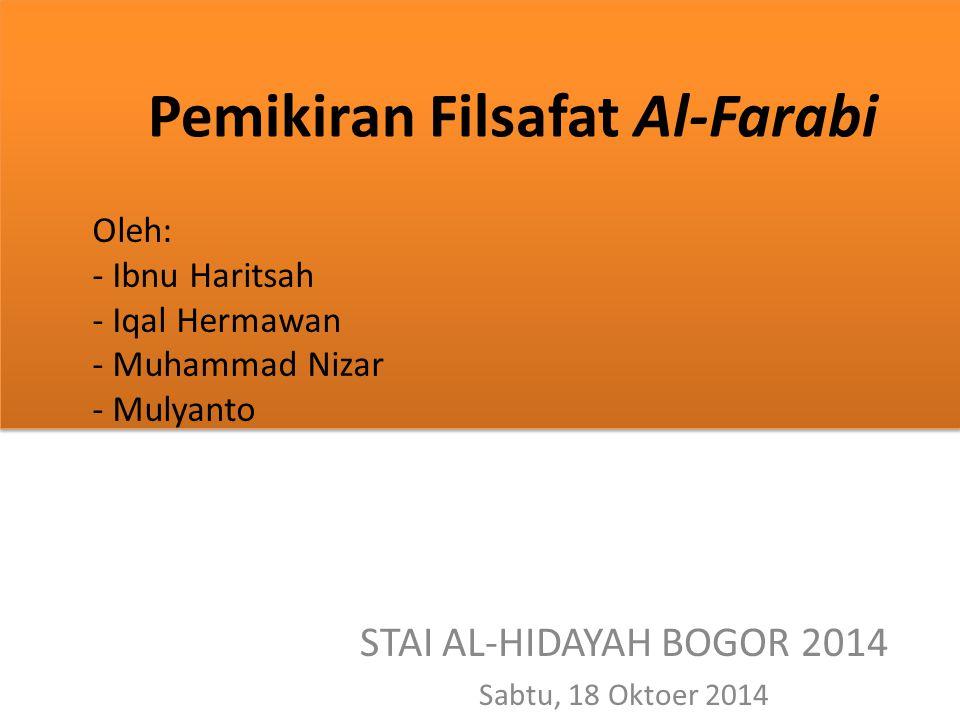 Pemikiran Filsafat Al-Farabi