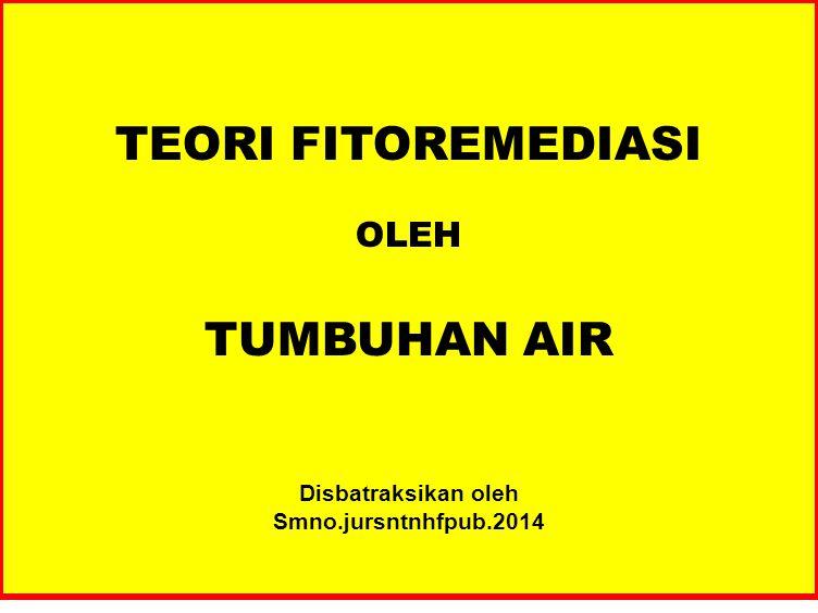 TEORI FITOREMEDIASI TUMBUHAN AIR