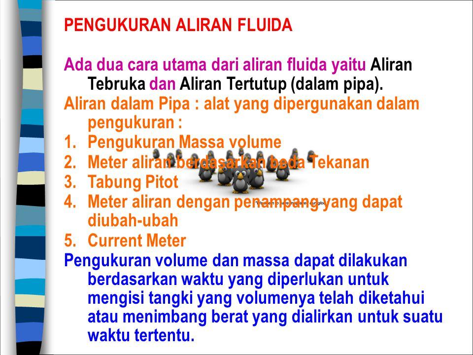 PENGUKURAN ALIRAN FLUIDA