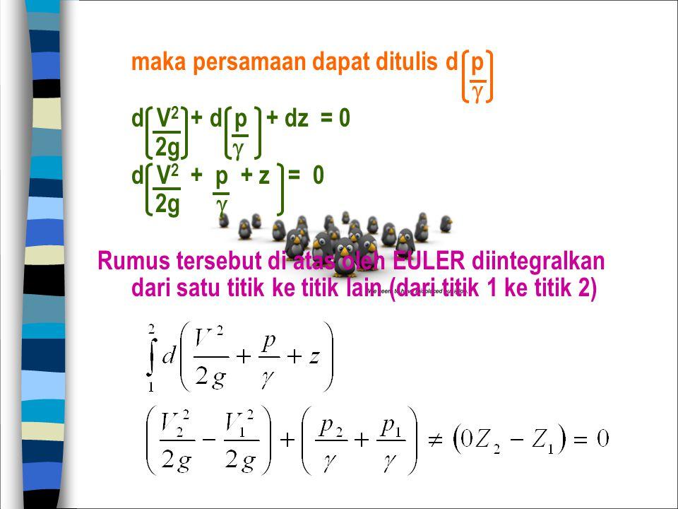 maka persamaan dapat ditulis d p