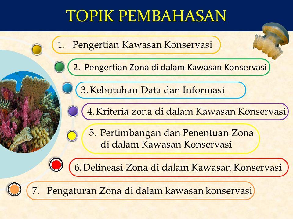 TOPIK PEMBAHASAN Pengertian Kawasan Konservasi