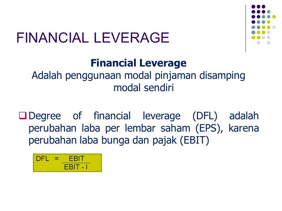 Adalah penggunaan modal pinjaman disamping modal sendiri