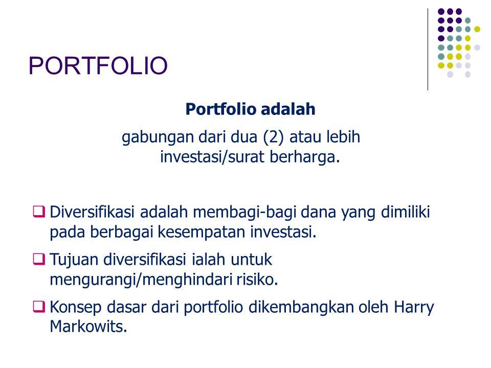 gabungan dari dua (2) atau lebih investasi/surat berharga.