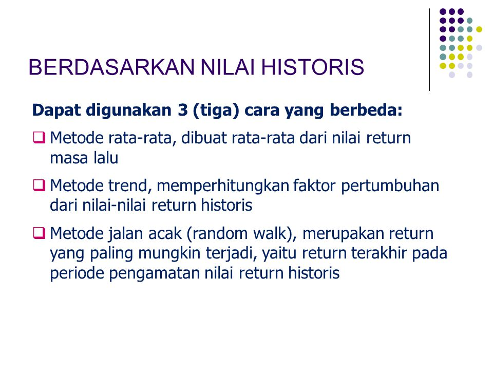 BERDASARKAN NILAI HISTORIS