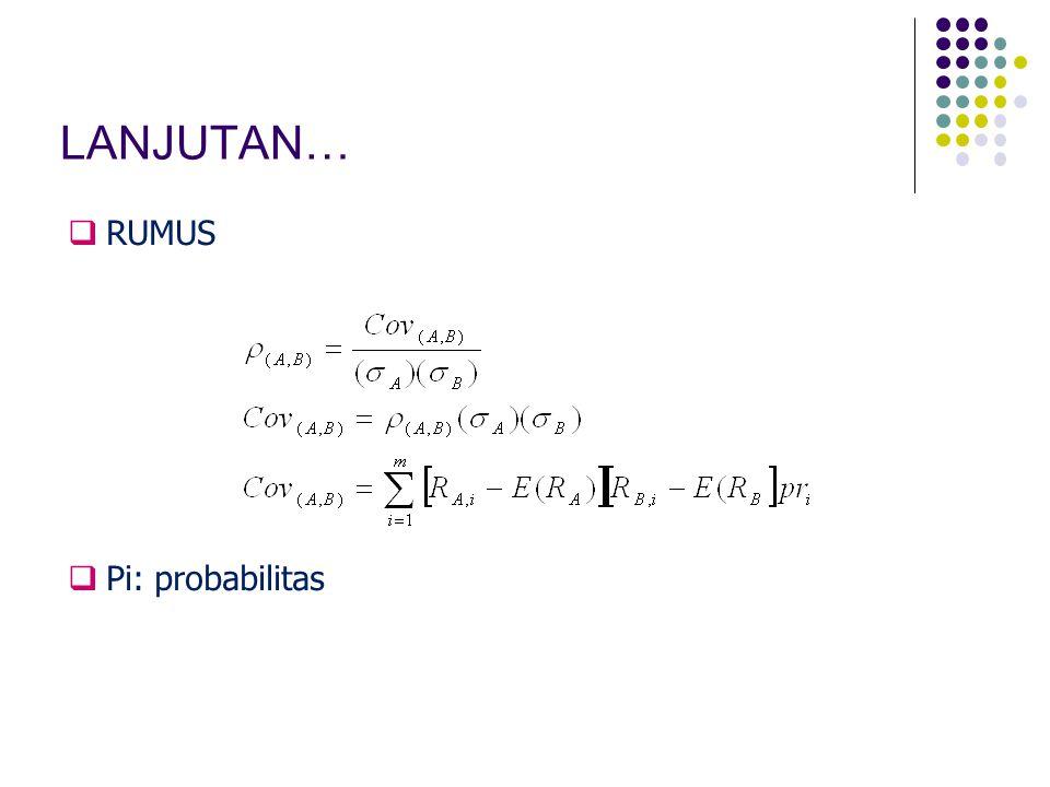 LANJUTAN… RUMUS Pi: probabilitas