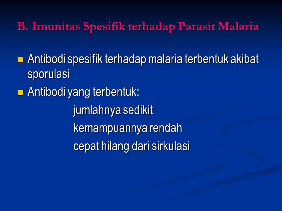 B. Imunitas Spesifik terhadap Parasit Malaria