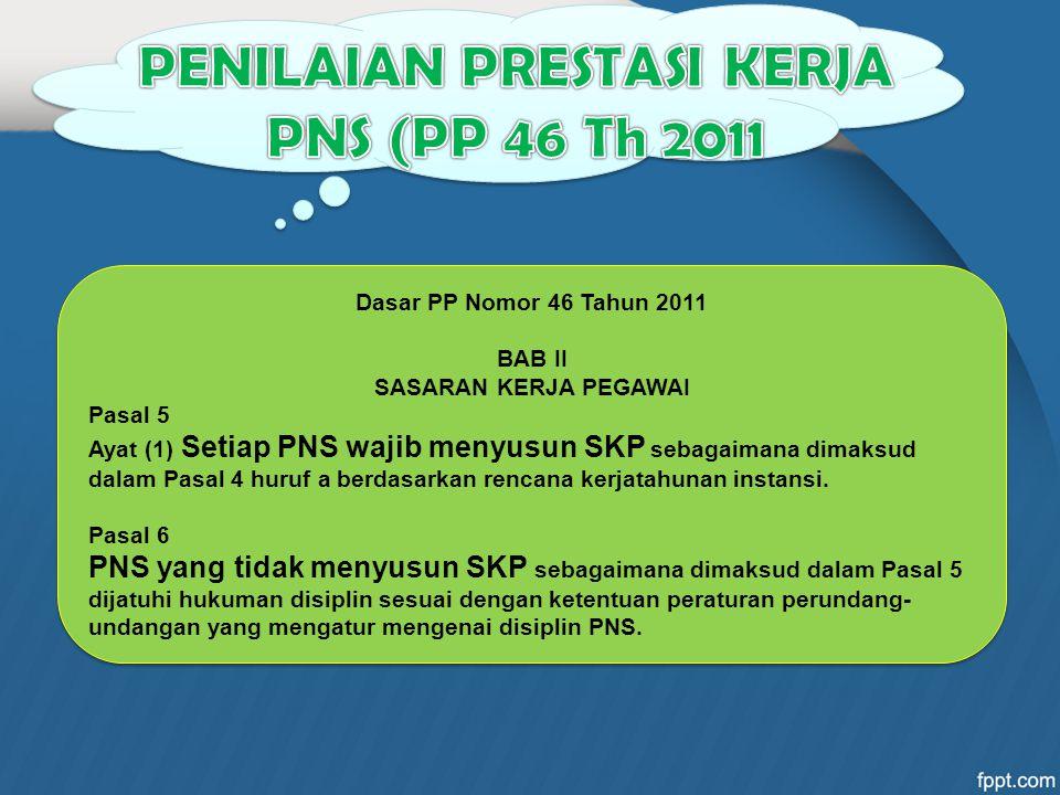 PENILAIAN PRESTASI KERJA PNS (PP 46 Th 2011