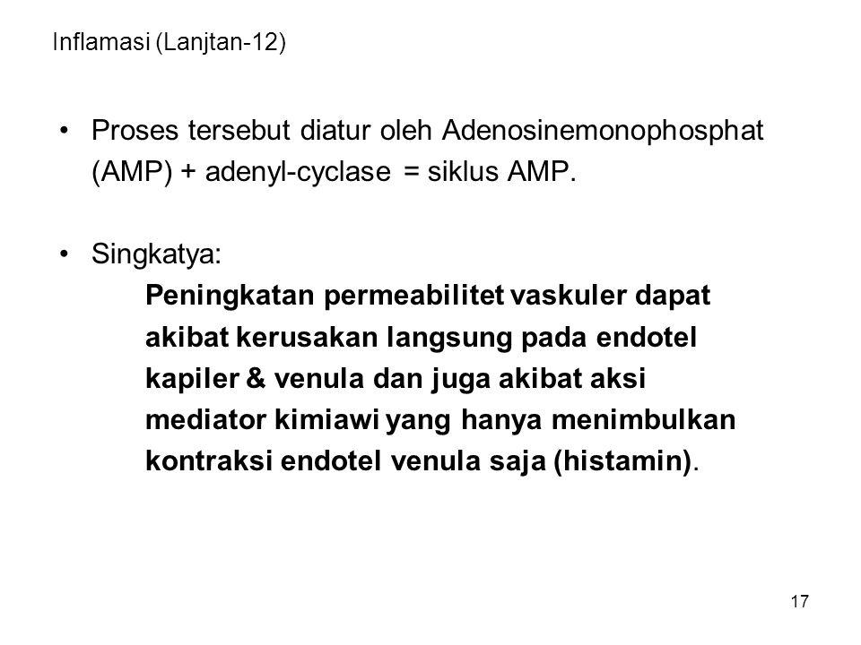 Proses tersebut diatur oleh Adenosinemonophosphat