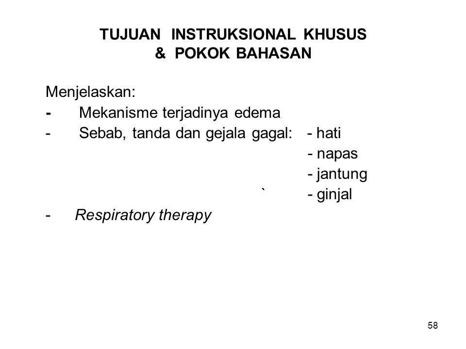 TUJUAN INSTRUKSIONAL KHUSUS & POKOK BAHASAN