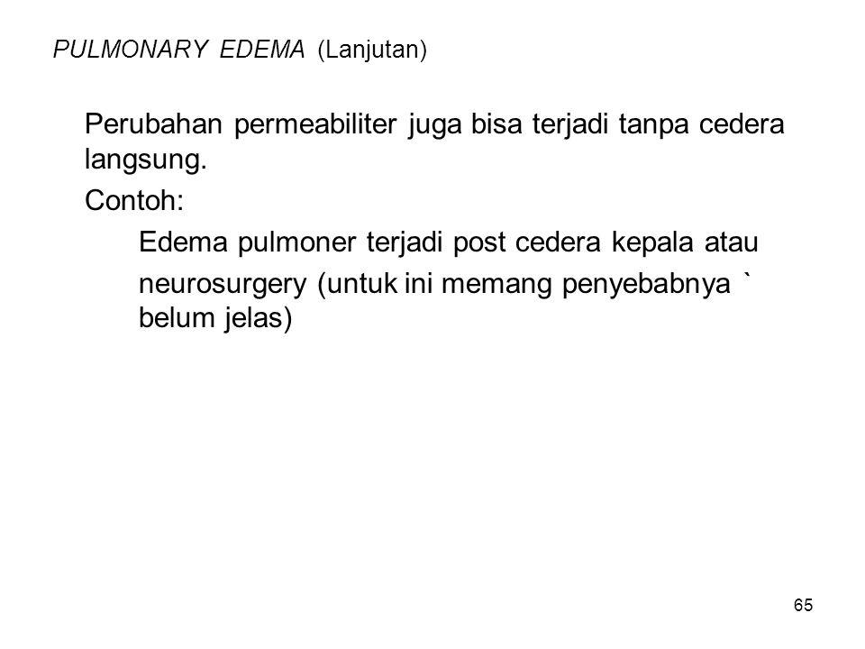 PULMONARY EDEMA (Lanjutan)