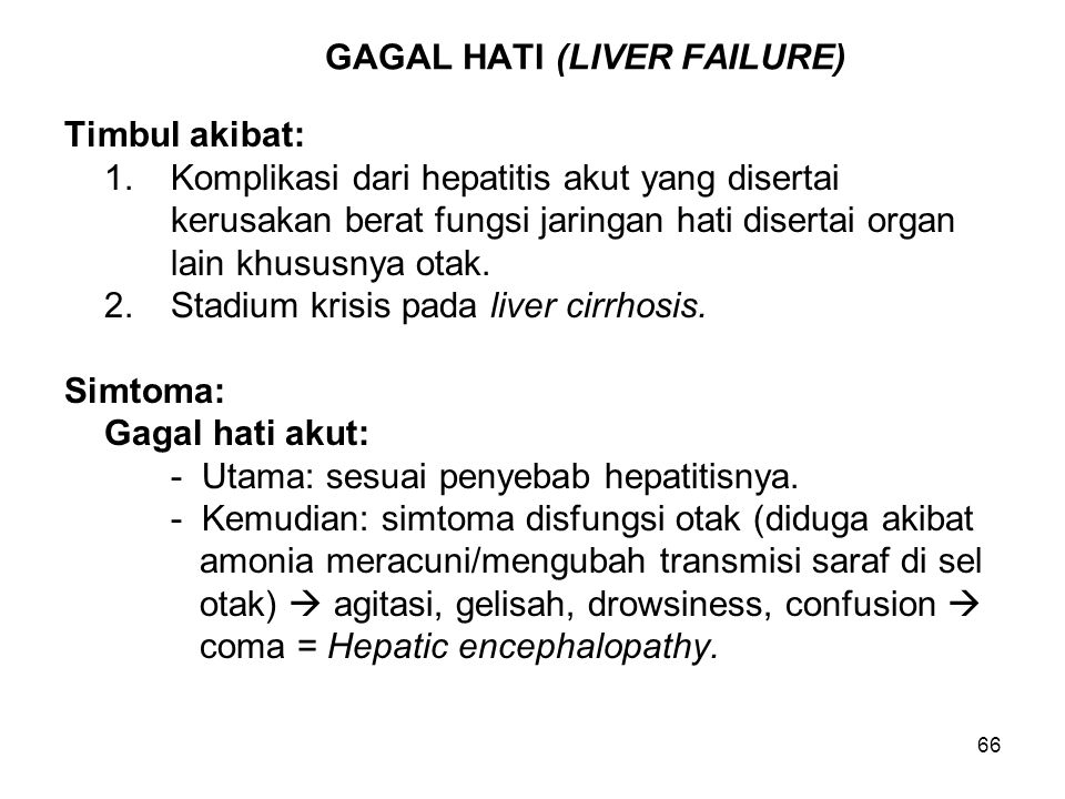 GAGAL HATI (LIVER FAILURE)