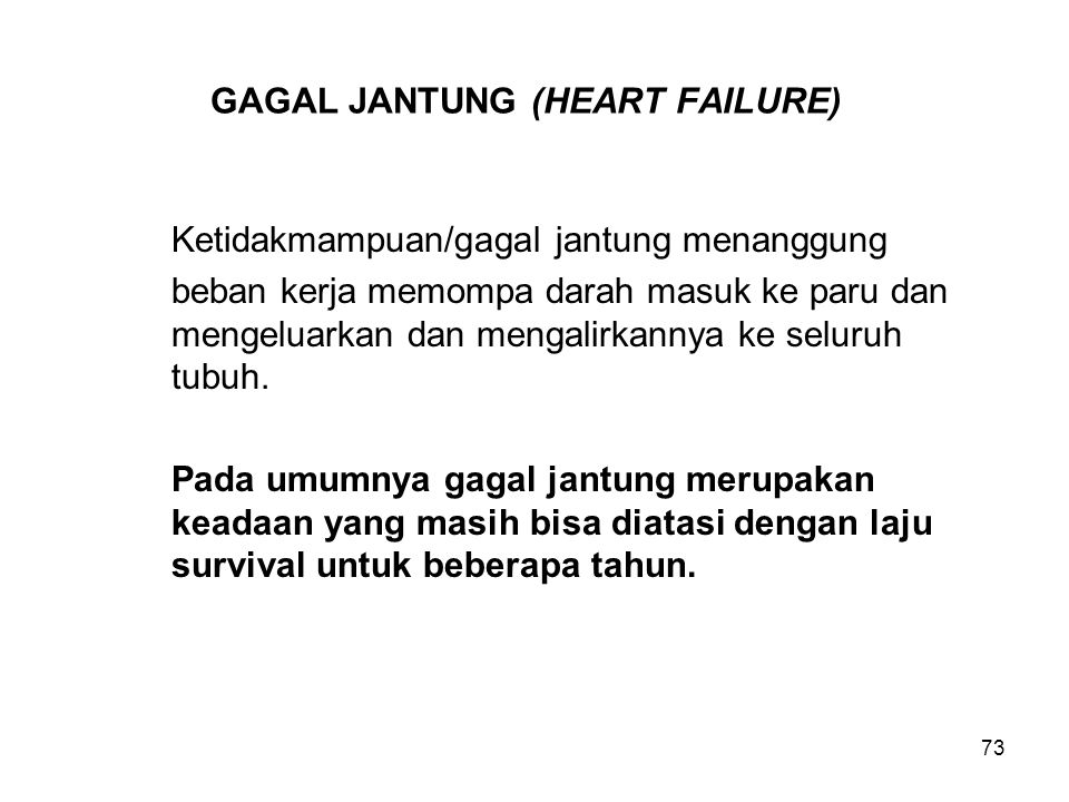 GAGAL JANTUNG (HEART FAILURE)