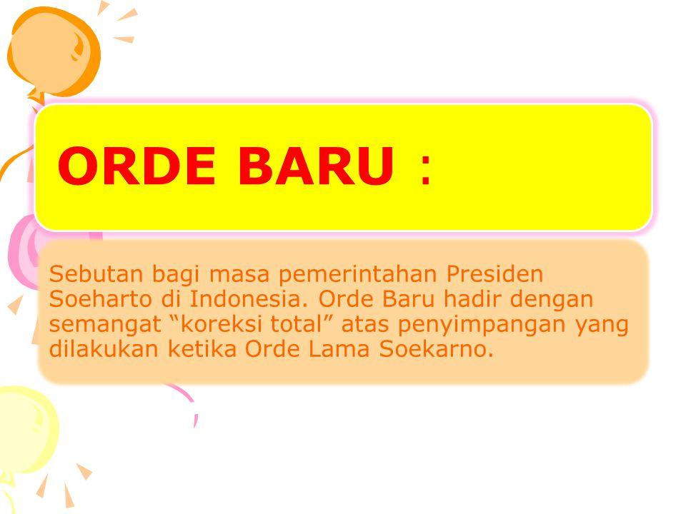 ORDE BARU :