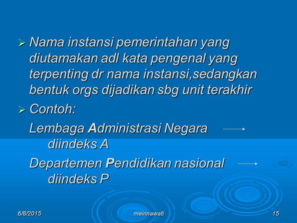 Lembaga Administrasi Negara diindeks A