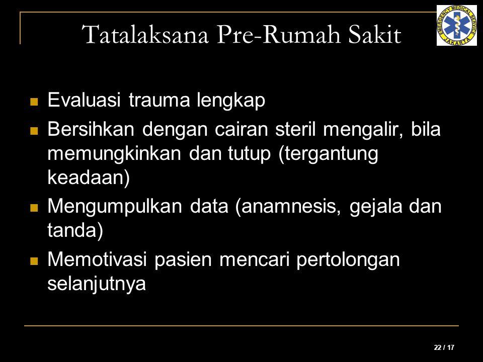Tatalaksana Pre-Rumah Sakit