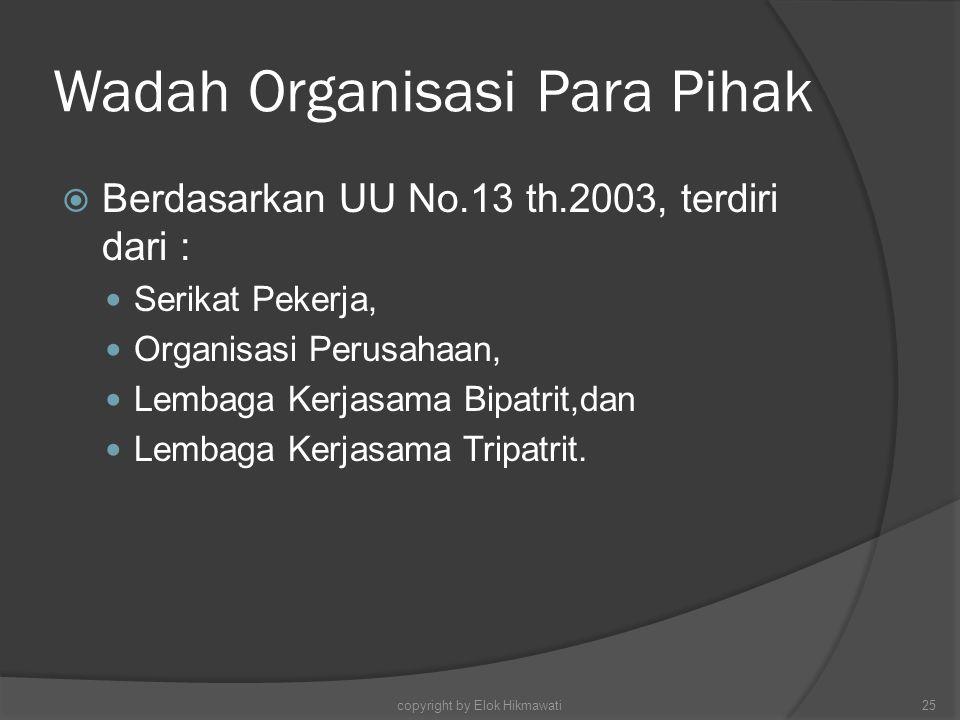 Wadah Organisasi Para Pihak
