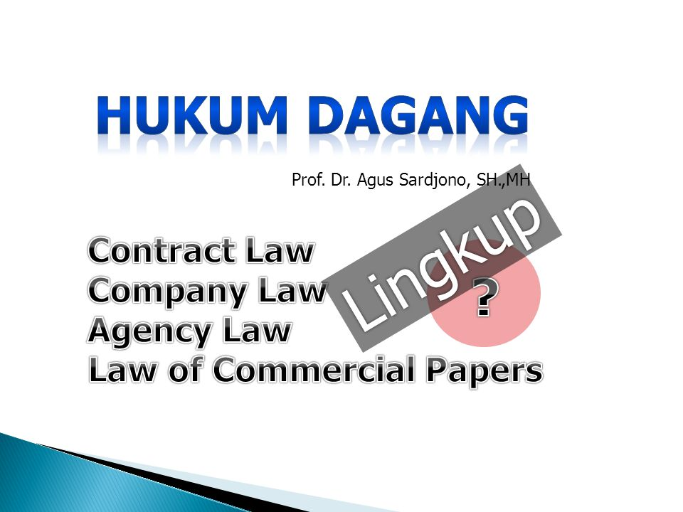 Law of Commercial Papers