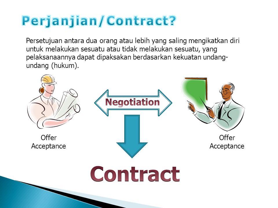 Contract Perjanjian/Contract Negotiation