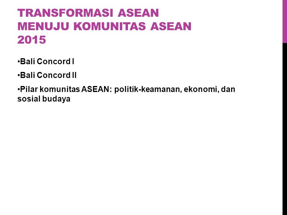 Transformasi asean menuju komunitas asean 2015
