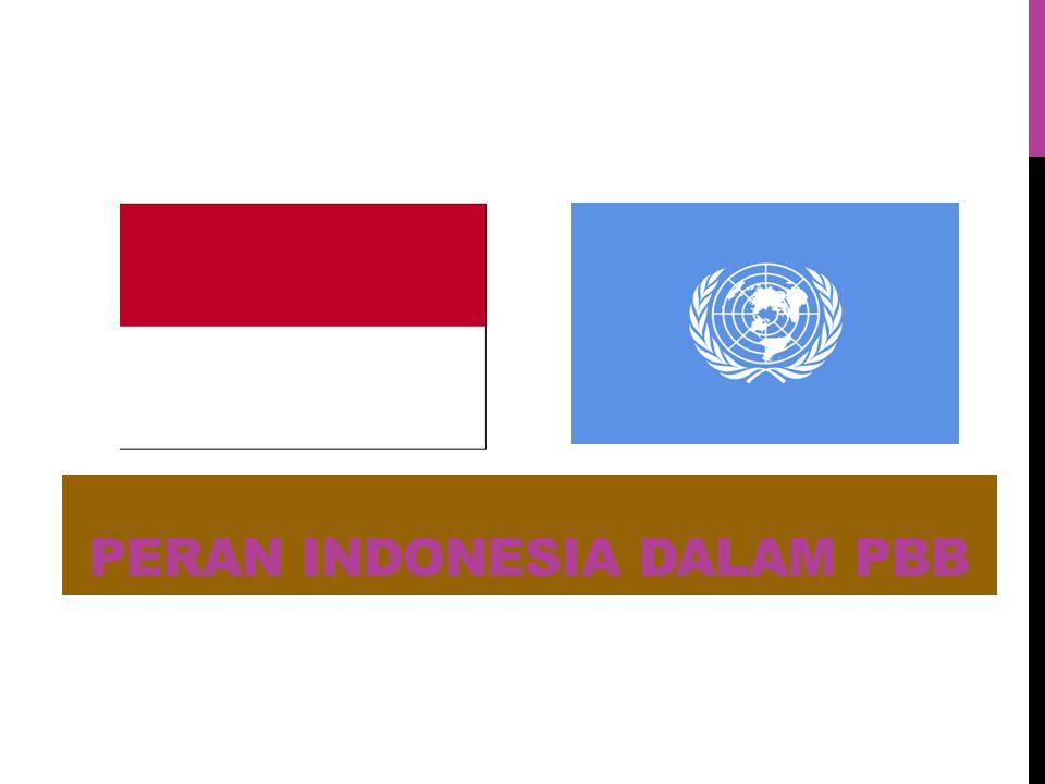PERAN INDONESIA DALAM PBB