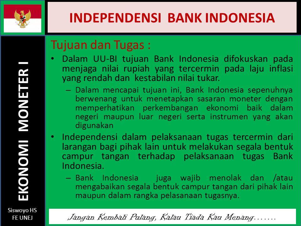 INDEPENDENSI BANK INDONESIA