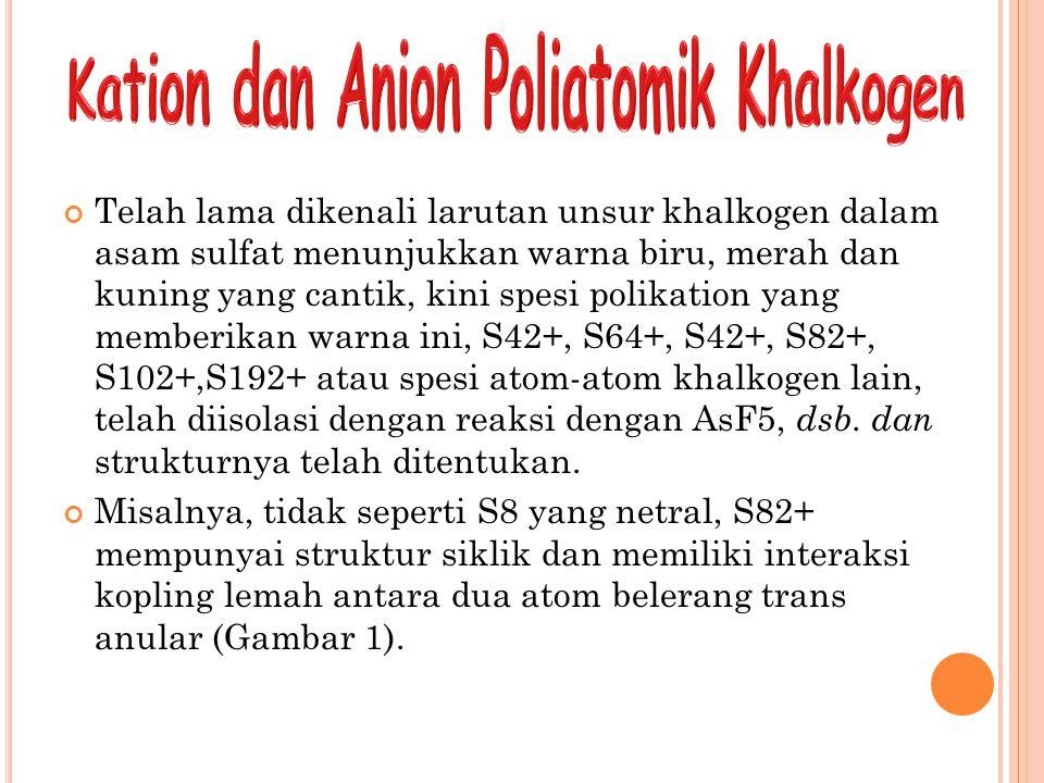 Kation dan Anion Poliatomik Khalkogen