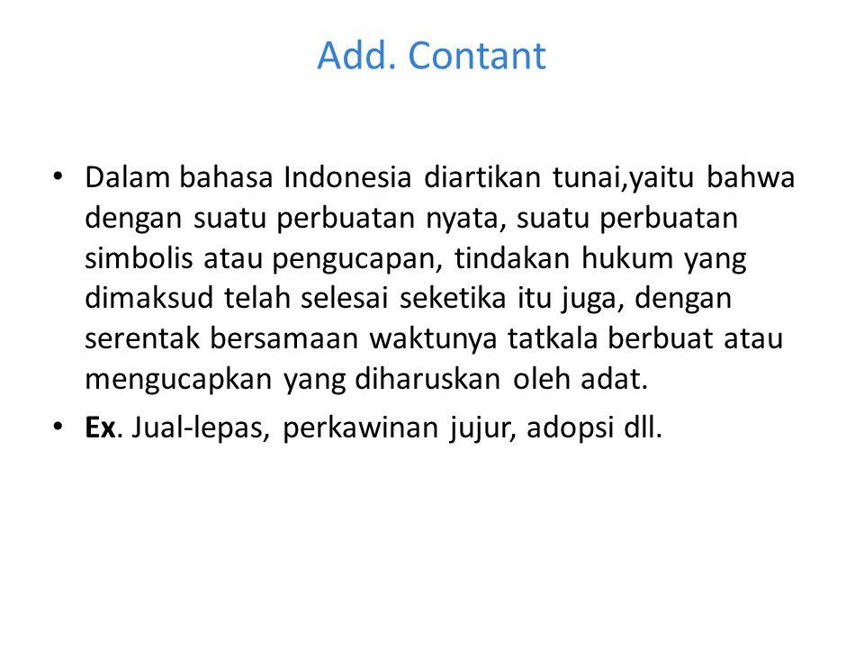 Add. Contant