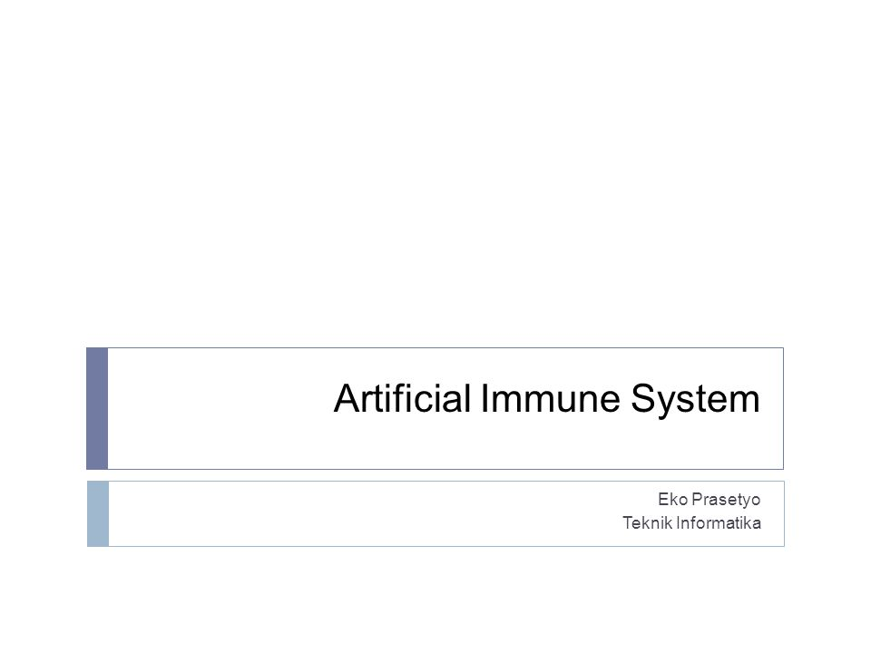 Artificial Immune System
