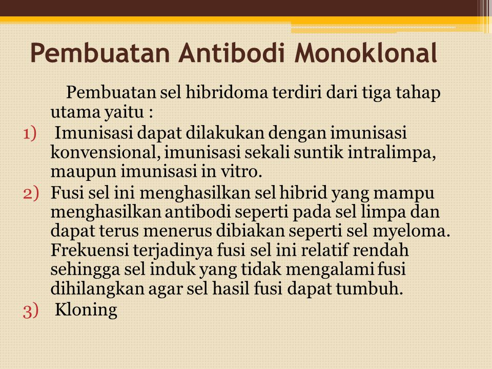 Pembuatan Antibodi Monoklonal