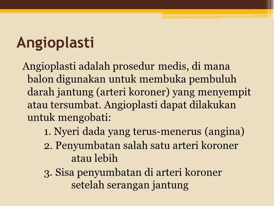 Angioplasti