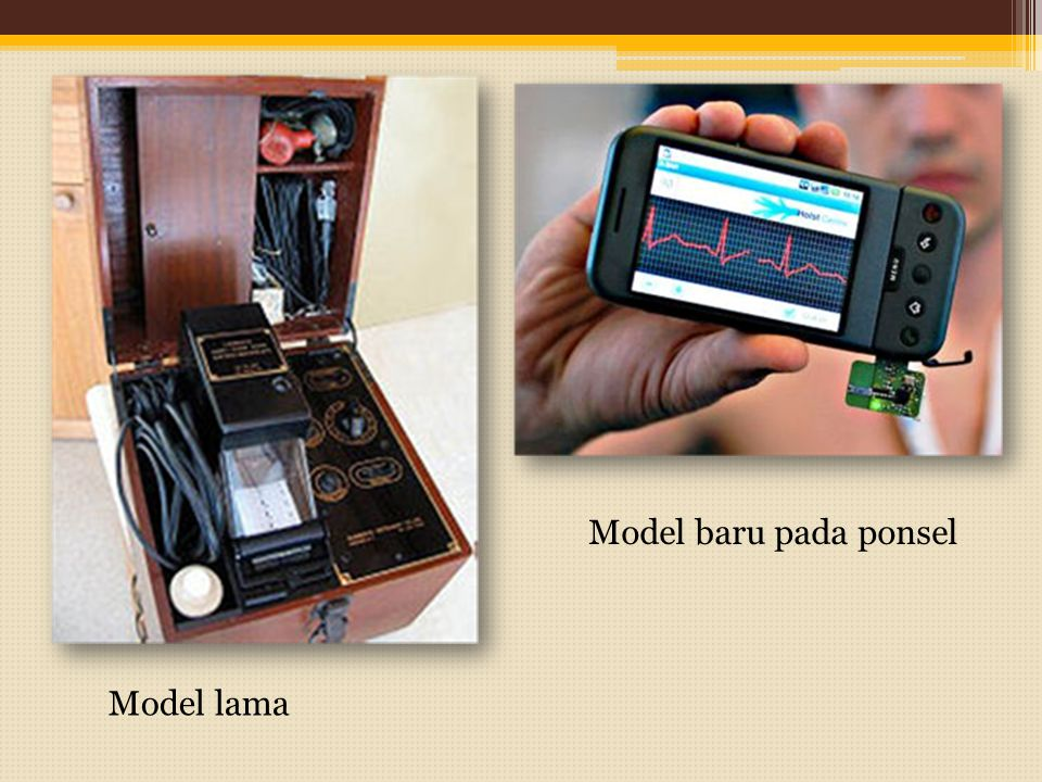 Model baru pada ponsel Model lama