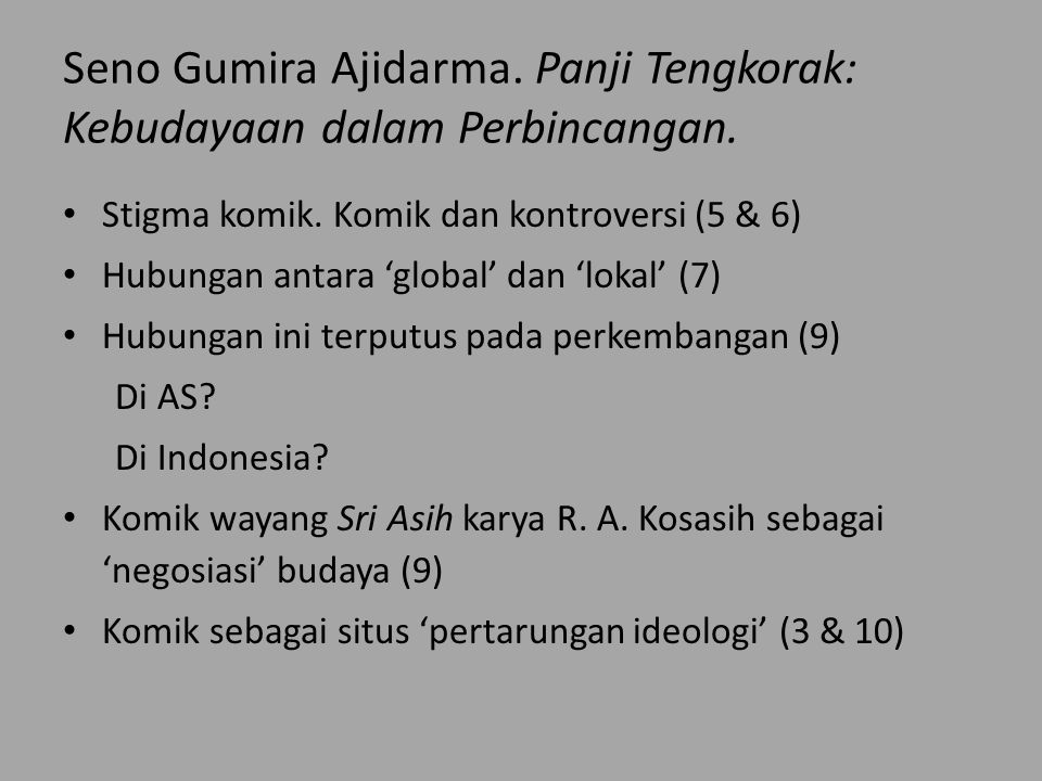 Seno Gumira Ajidarma. Panji Tengkorak: Kebudayaan dalam Perbincangan.
