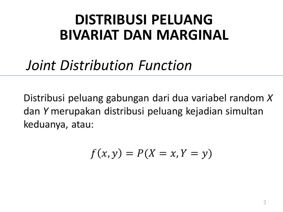 Joint Distribution Function