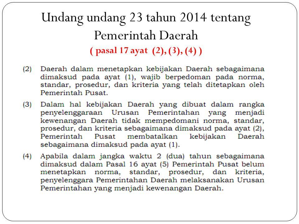 Undang undang 23 tahun 2014 tentang Pemerintah Daerah