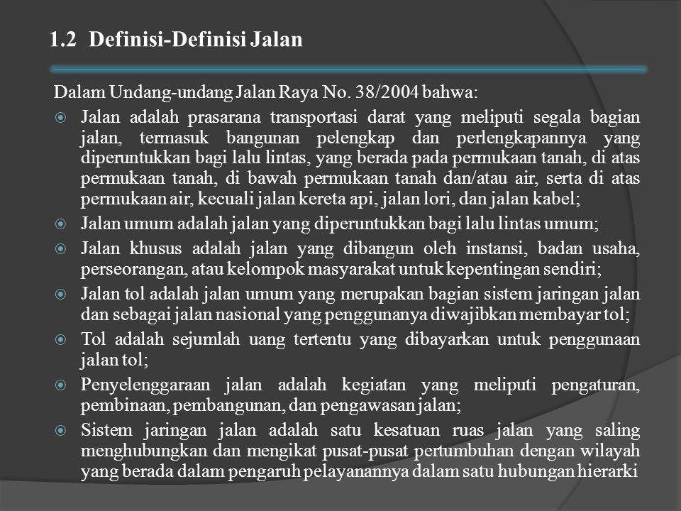 1.2 Definisi-Definisi Jalan