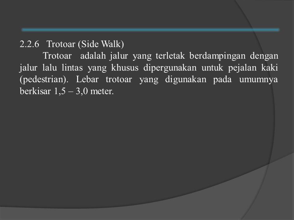 2.2.6 Trotoar (Side Walk)