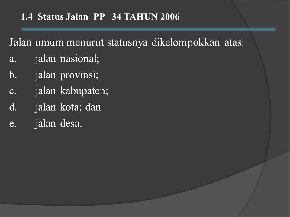 1.4 Status Jalan PP 34 TAHUN 2006