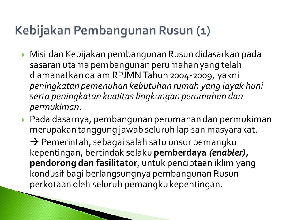 Kebijakan Pembangunan Rusun (1)