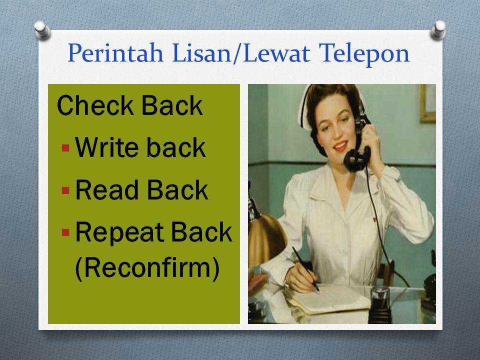 Perintah Lisan/Lewat Telepon