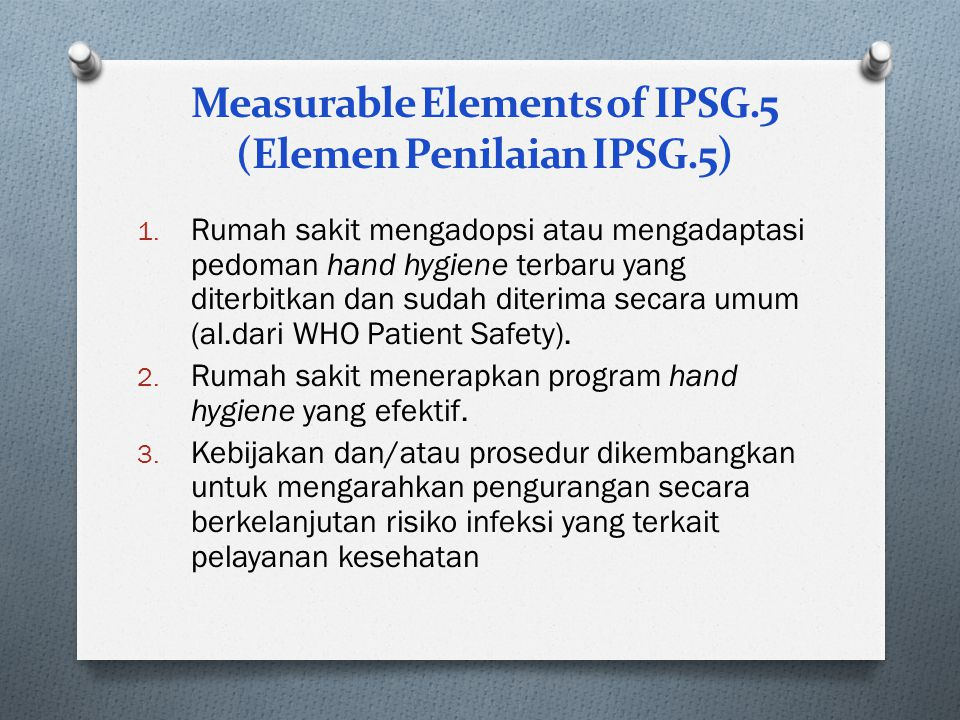 Measurable Elements of IPSG.5