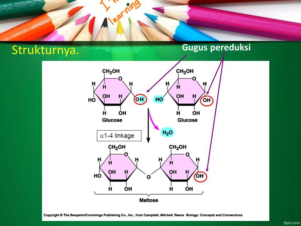 Strukturnya. Gugus pereduksi a1-4 linkage