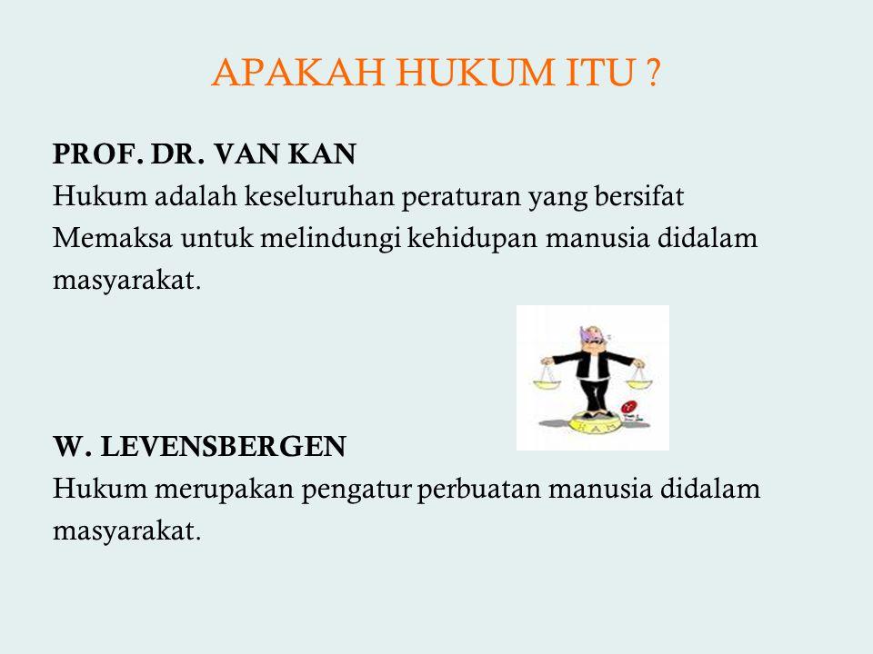 APAKAH HUKUM ITU PROF. DR. VAN KAN