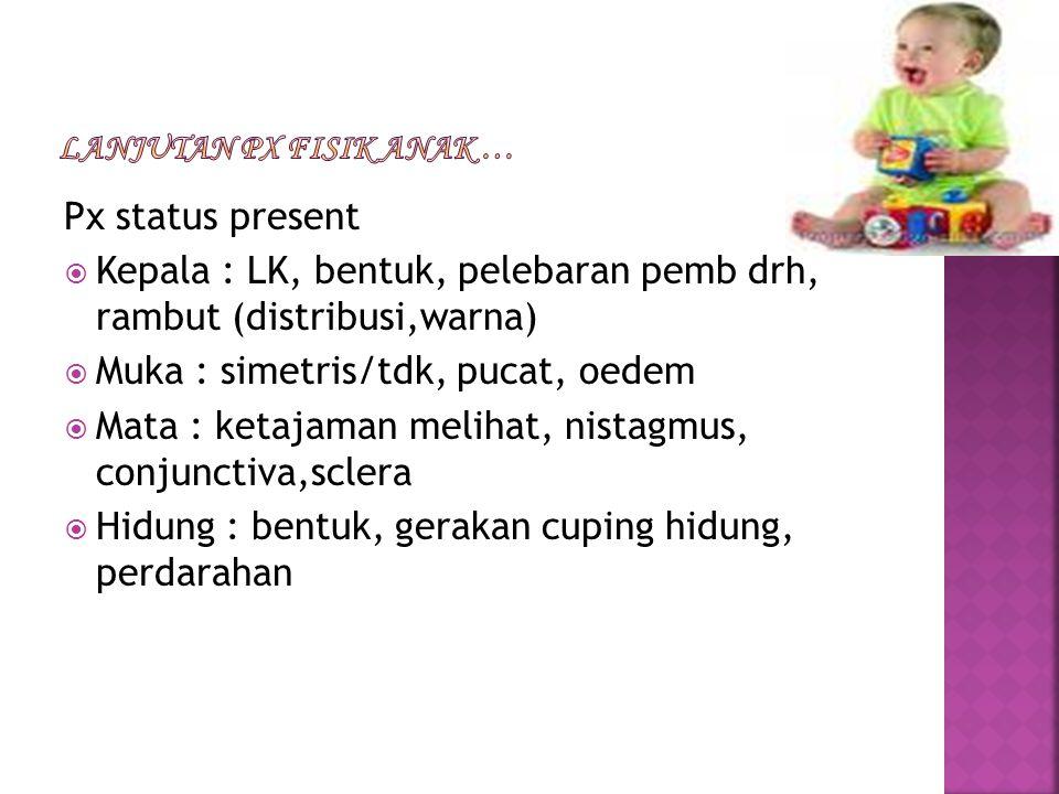 Lanjutan px fisik anak …