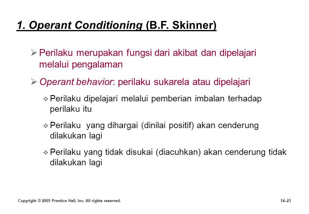 1. Operant Conditioning (B.F. Skinner)